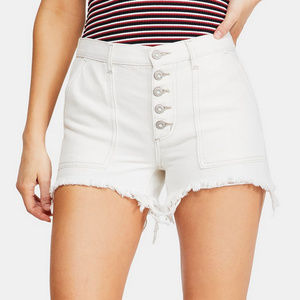 New Free People Denim High Waist Carpenter Shorts